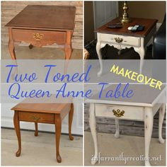 Queen Anne style furniture was first developed in the 1700s. It is characterized by curvy legs and often includes carved shell and scroll motifs. I certainly didn't pick these pieces of furniture...