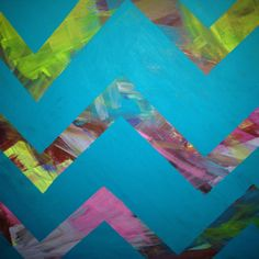 Painting inspired by a pin Chevron Art, Painting Inspiration, Craft Projects, Inspired, Abstract, Diy, Crafts, Summary, Manualidades