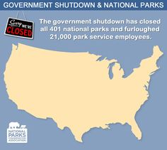 Check out this interactive map that shows some of the closed national park units. #keepparksopen
