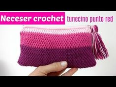 Neceser crochet tunecino con cremallera - YouTube