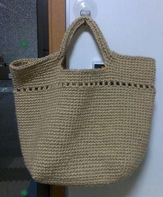 麻紐バックの作り方|編み物|編み物・手芸・ソーイング | アトリエ|手芸レシピ16,000件!みんなで作る手芸やハンドメイド作品、雑貨の作り方ポータル