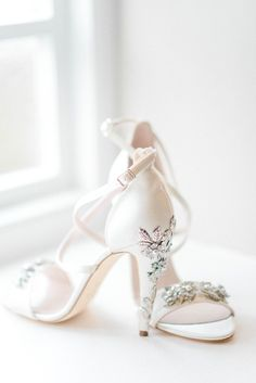23c8ba3d4e218b Embellished Heels Bride Bridal Shoes Harriet Wilde Newton Hall Wedding  Sarah-Jane Ethan Photography