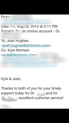 Great support from the drchrono team!
