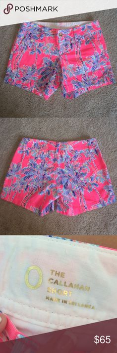 Lilly Pulitzer nice stems shorts Perfect worn once condition (pretty much new) so flaws or stains! I'm not sure if I will sell these but I will for the right price! Lilly Pulitzer Shorts