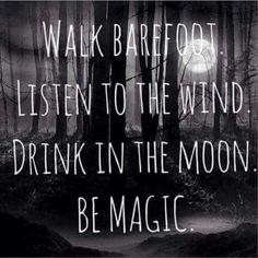 Travel. Barefoot. Moon
