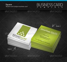 Mini Square Business Cards, Business Cards, Creative Business CardsPixel2Pixel Design
