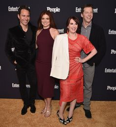 Eric McCormack Debra Messing Megan Mullally  Sean Hayes at the Entertainment Weekly/People Mag Upfronts Party