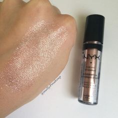 NYX Roll On Shimmer in Salmon. Follow my instagram @mellyfmakeup for more!