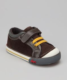 Take a look at this Brown Gio LE Sneaker by See Kai Run on #zulily today!