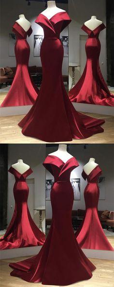 burgundy prom dress,burgundy evening dress,mermaid prom dress,mermaid evening gowns M6340
