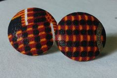 Check out this item in my Etsy shop https://www.etsy.com/listing/290715585/fabric-button-earrings-kente-print