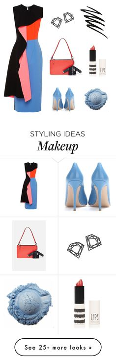 """""""not serious enough"""" by foundlostme on Polyvore featuring Roksanda, Opening Ceremony, Topshop, Myia Bonner, Gianvito Rossi, Smashbox, fun, colorful and cocktaildress"""