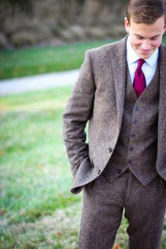 j.crew three piece suit // men's style