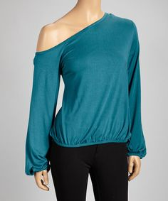 Take a look at this Teal Side-Tie Top on zulily today!