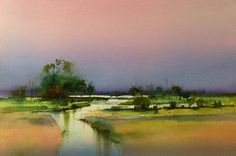 wetlands by john lovett #watercolor jd http://www.SeedingAbundance.com http://www.marjanb.myShaklee.com