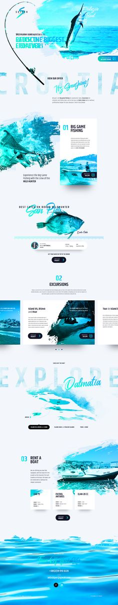 Web design_Exclusive Boat Tours Design Sites, Web Design Tips, Web Design Trends, Ux Design, Page Design, Layout Design, Creative Design, Web Responsive, Site Vitrine