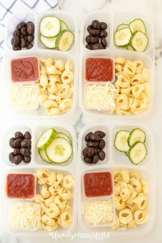 This Tortellini Easy Lunchbox Idea is perfect for work or school lunch. Healthy Lunches For Work, Cold Lunches, Work Meals, Prepped Lunches, Lunch Snacks, Lunch Recipes, Easy Meals, Healthy Meals, Ww Recipes