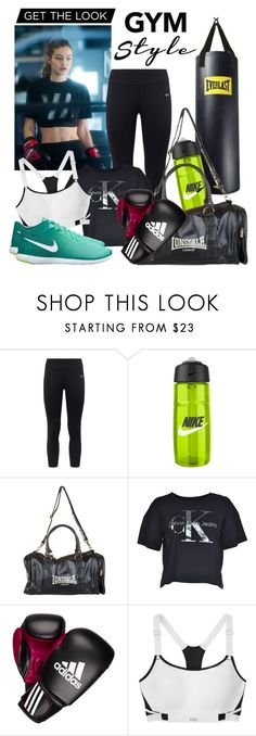 """""""Gigi Hadid"""" by fashion-film-fun ❤ liked on Polyvore featuring NIKE, Lonsdale, Calvin Klein, adidas, Victoria's Secret, GetTheLook, gigihadid and gymessentials"""