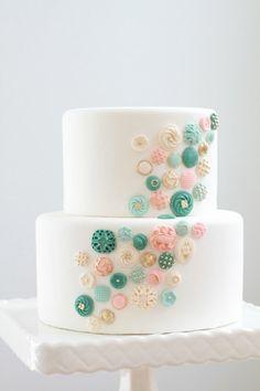 Edible Buttons Cake Decor: 100 ct
