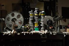 Analog Movie Projection, before the Digital Conversion. Photographer Joseph O. Holmes
