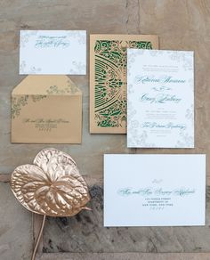 Wedding Invitations from @Ceci Basualdo Basualdo Basualdo New York | See the glamorous feature on SMP Weddings - http://www.StyleMePretty.com/california-weddings/2014/01/03/glamorous-garden-inspiration/ Joseph Matthew Photography