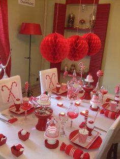 1000 images about id e table no l on pinterest noel - Decoration table de noel rouge et blanc ...