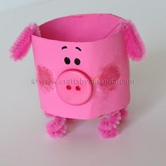 Pig craft - we made a modified version of this with our preschool group this week