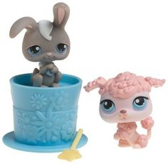 Littlest Pet Shop Pet Pairs - Poodle and Grey Bunny