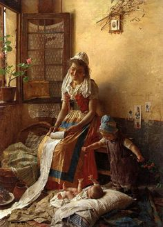 View A mothers love by Gaetano Chierici on artnet. Browse upcoming and past auction lots by Gaetano Chierici. Art And Illustration, Old Paintings, Paintings I Love, Beautiful Paintings, Carl Spitzweg, Italian Painters, Fine Art, Mothers Love, Painting & Drawing