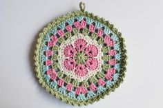 181/365 - African Flower Mandala Potholder | Flickr - Photo Sharing!