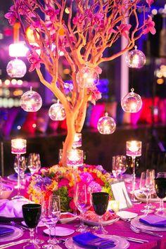 Ideas para los centros de mesa de tu boda.