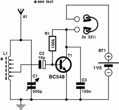 One Transistor Radio Circuit Powered by a 1.5V Battery | Circuit Spot