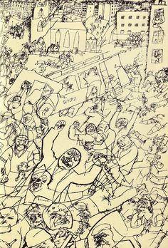 Some drawings by George Grosz , a German artist who caricatured Berlin life of the You can see a lot of really high resolution draw. Art Dégénéré, George Grosz, Degenerate Art, Franz Marc, Art Plastique, Painting & Drawing, Sillouette Painting, Les Oeuvres, Art History