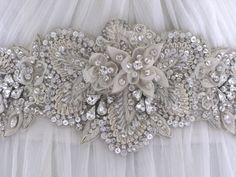 Jewelled bridal belt or crystal sash - Darling