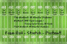 Killer Stadiums/Football workout that I created today!!