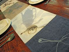 Irish linen table runners for a modern aesthetic.  Straight from Dublin and handcrafted.  Jennifer Slattery.