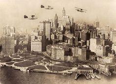 Then Vs. Now: 1920s New York City & today New York City [PHOTOS]