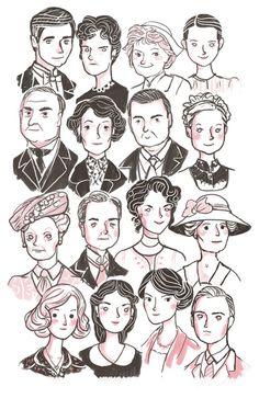 Downton Abbey Art Print $14
