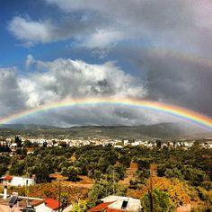 #rainbow #clouds #sky