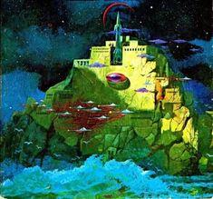 1975 Paul Lehr cover art to Slan by A. 70s Sci Fi Art, Acid Art, Savage Worlds, Arte Tribal, Alien Worlds, Sci Fi Books, Science Fiction Art, Fantasy Inspiration, Fantastic Art