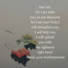 Have no fear; your God is always near. #biblereadingplan #biblereading #nofearjournal #nofear