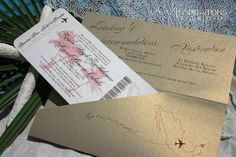 Boarding Pass Wedding Invitations from Inspirations by Amie Lee