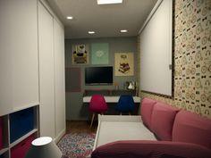 Projeto do escritório Bel e Tef Atelier da Reforma - Apartamento Panamby - Quarto de hóspedes de crianças