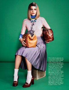 Rintje van Witjck is First Class for Naomi Yangs Glamour France Shoot ~The Royal Tenenbaums!!! love love love margot's style