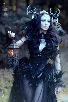 Model,MUAH, accessories - Model Kassie Katrine Lanfire - Headpiece - MyWitchery Photographer - Veronica Anrathi  Outfit - Alice Corsets