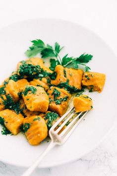 Vegan Gluten-Free Carrot Gnocchi | These carrot gnocchi are easy to make and require just 5 simple ingredients. Serve with warm, herb-infused vegan butter.