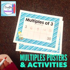 Students love writing on laminated placemats for practicing counting multiples. Multiplication Facts, Math Facts, Classroom Organization, Classroom Management, Behavior Interventions, Math Challenge, Bullying Prevention, Character Education, Addition And Subtraction