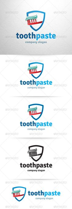 Toothpaste Logo Template — Vector EPS #modern #toothpaste • Available here → https://graphicriver.net/item/toothpaste-logo-template/6542810?ref=pxcr