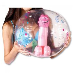 Inflatable Pecker Beach Ball - Hens Party Activity