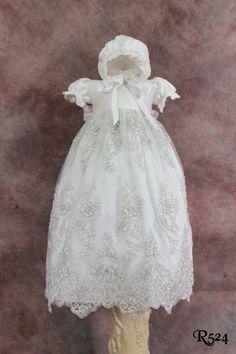 Silk Christening GownVictorian GownRoyal por ElenaCollectionUSA, $320.00